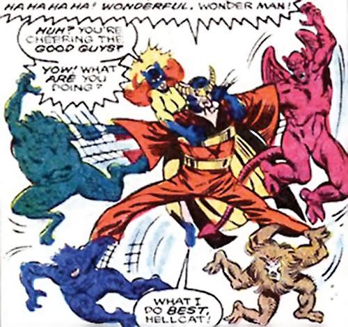 Master Pandemonium (Avengers enemy) (Marvel Comics) vs. Hellcat