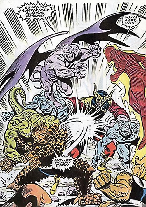 Master Pandemonium (Avengers enemy) (Marvel Comics) vs. the Fantastic Four