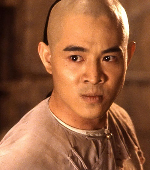 Master Wong (Jet Li in Once Upon A Time In China movies) face closeup