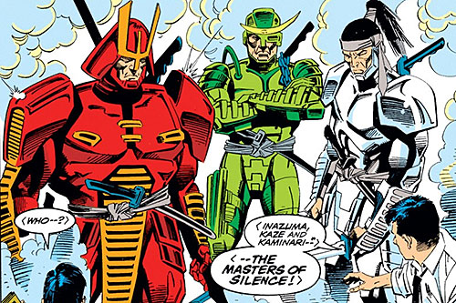 The Masters of Silence (Iron Man characters) (Marvel Comics) appearing