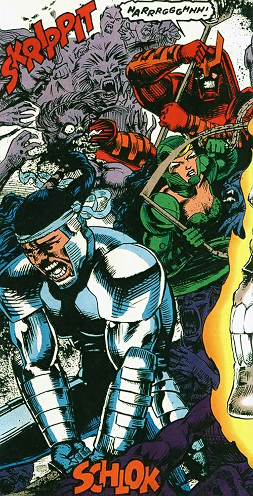 The Masters of Silence (Iron Man characters) (Marvel Comics) fighting ghouls