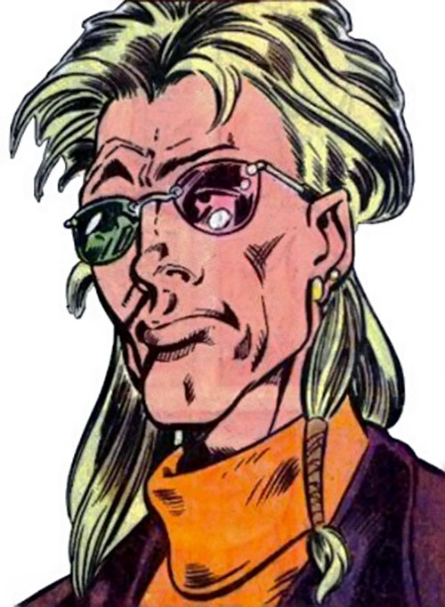 Mathemanic of Psionex (New Warriors enemy) (Marvel Comics) face closeup
