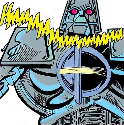 Matrix-Prime (Supergirl enemy) (DC Comics) opens its pectoral hatch