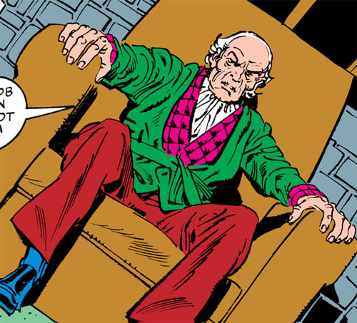 Max Hammer Stryker (Hulk enemy) (Marvel Comics) human form sitting