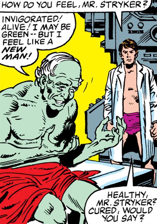 Max Hammer Stryker (Hulk enemy) (Marvel Comics) and Dr. Banner