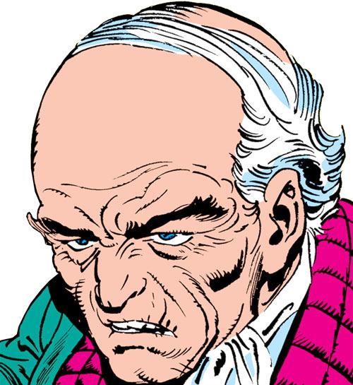 Max Hammer Stryker (Hulk enemy) (Marvel Comics) human form face closeup