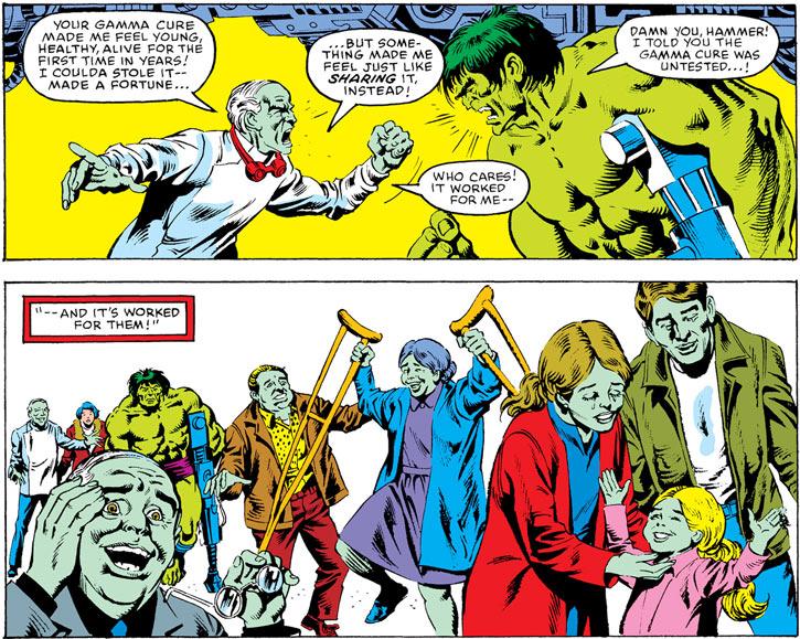 Max Stryker heals people using gamma radiation