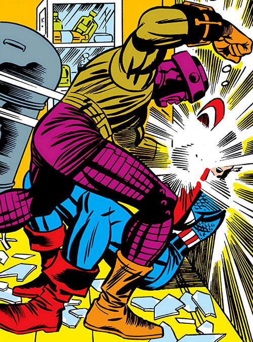 Mecho-Assassin of A.I.M. (Marvel Comics) fighting Captain America