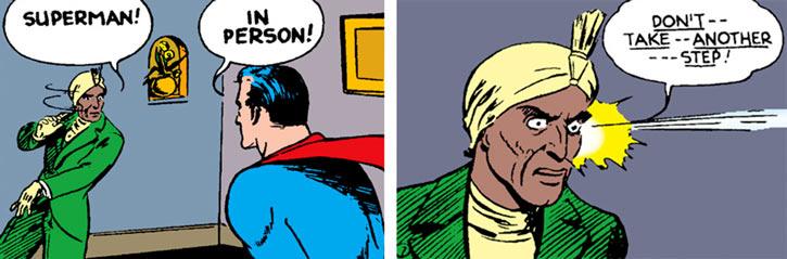Medini hypnotizes Superman in Action Comics #25