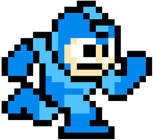 Mega Man (Rockman) vintage sprite