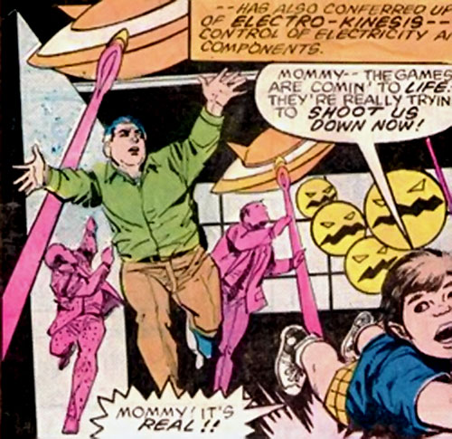 Megatak (Thor enemy) (Marvel Comics) has his video game creatures attack