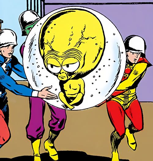 Meglaro (Legion of Super-Heroes enemy) (DC Comics) carried by Legionnaires