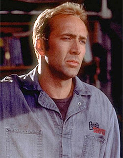 Memphis Raines (Nicolas Cage in Gone In 60 Seconds) portrait in denim
