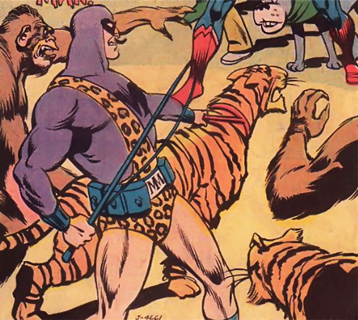 Menagerie Man with his animals, facing the Super-Friends