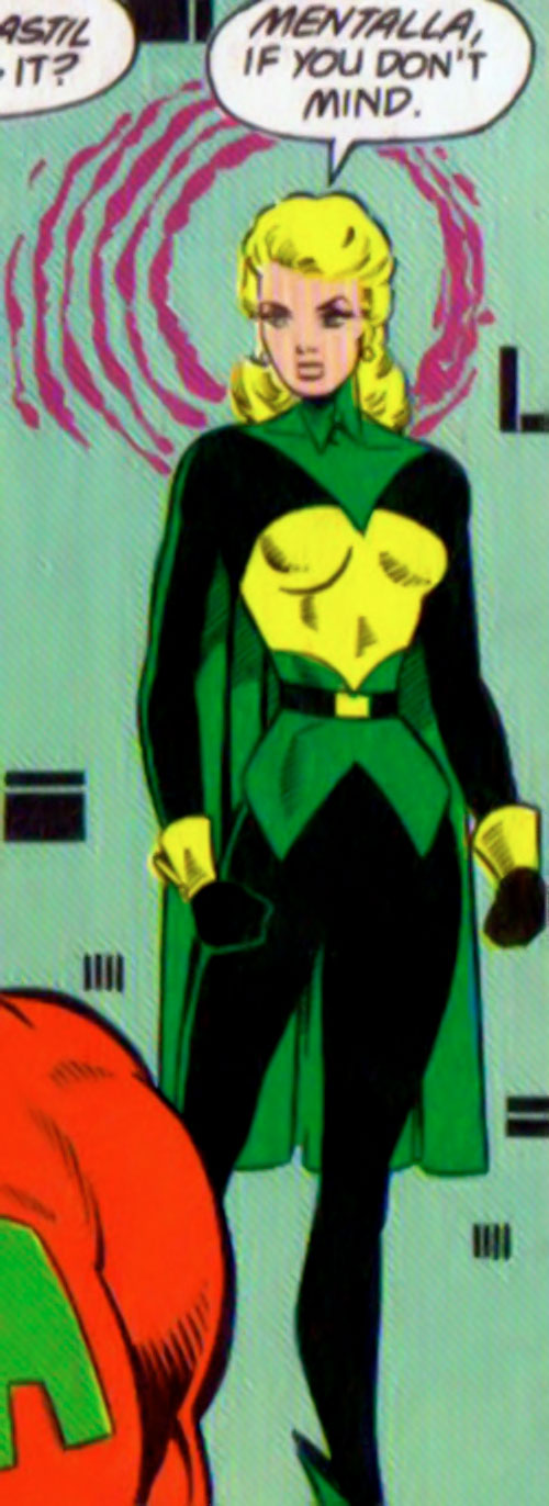 Mentalla of the Legion of Super-Heroes and Fatal Five (DC Comics) using her power
