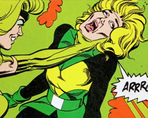 Mentalla of the Legion of Super-Heroes and Fatal Five (DC Comics) killed by the Emerald Empress