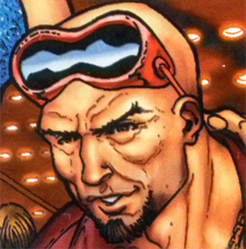 Mentallo (Marvel Comics) face closeup with goggles up