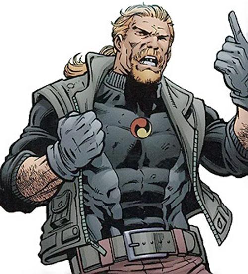 Drake Mercer (Negation Crossgen comics) in black, arguing