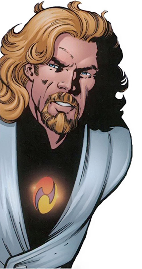 Drake Mercer (Negation Crossgen comics) face closeup and Sigil