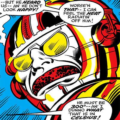 The Metalloid (Marvel Comics) head closeup