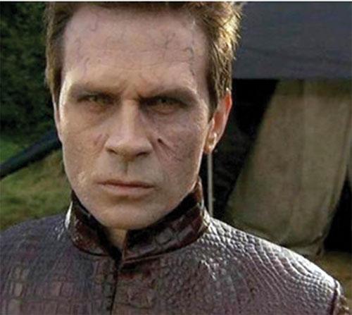 Michael Kenmore (Connor Trinneer in Stargate Atlantis) hybrid face closeup