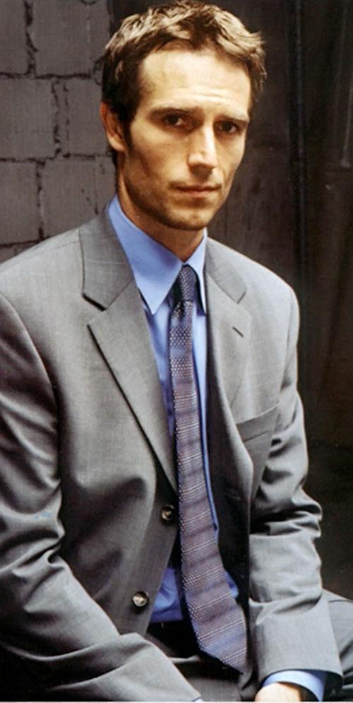 Michael Vaughn (Michael Vartan in Alias) in a gray suit