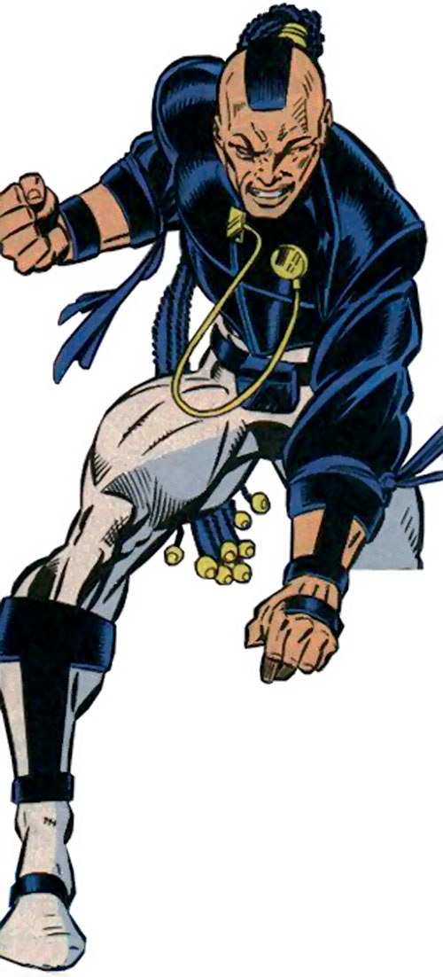 Midnight's Fire (New Warriors enemy) (Marvel Comics) ready for action