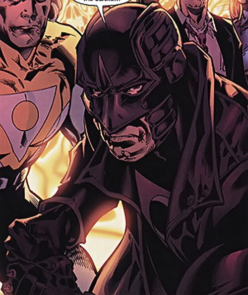 Midnighter of the Authority (Wildstorm Comics) face closeup before battle