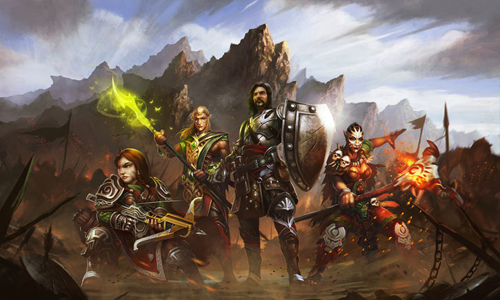 Might and Magic X Legacy game concept art - Party
