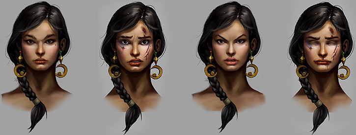 Might and Magic X Legacy game concept art - Human woman face
