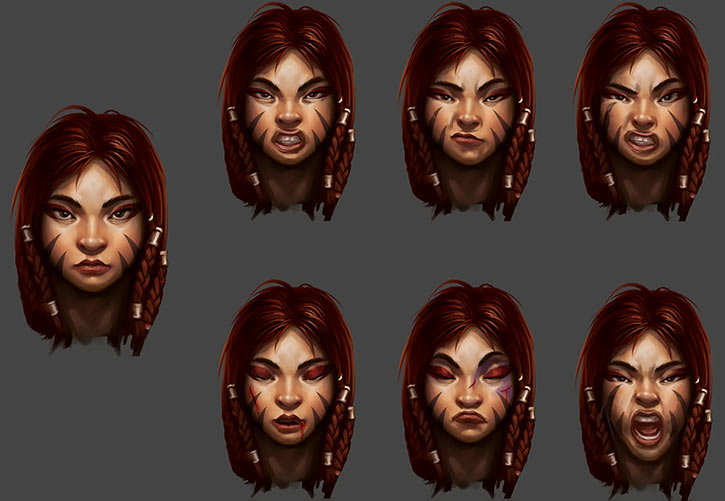 Might and Magic X Legacy game concept art - Dwarf woman face