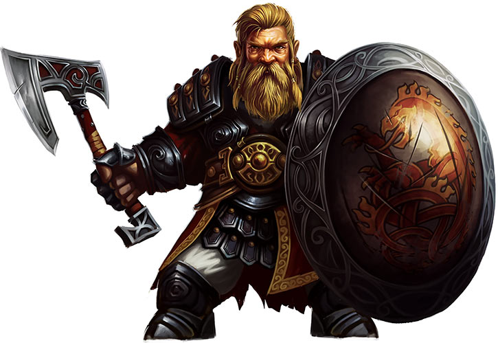Might and Magic X Legacy game concept art - Dwarf warrior