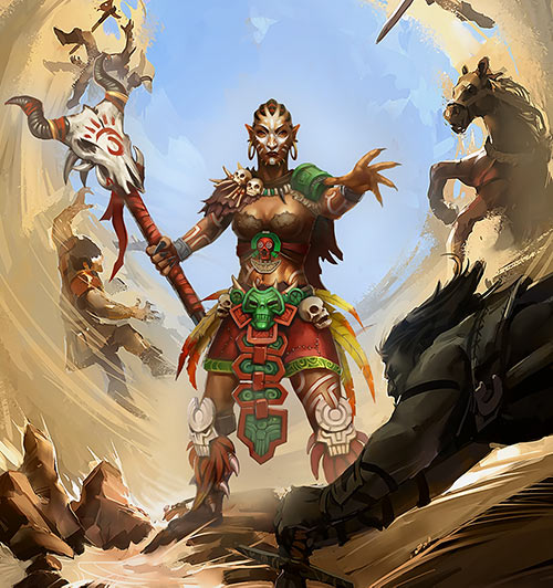 Might and Magic X Legacy game concept art - Orc shaman