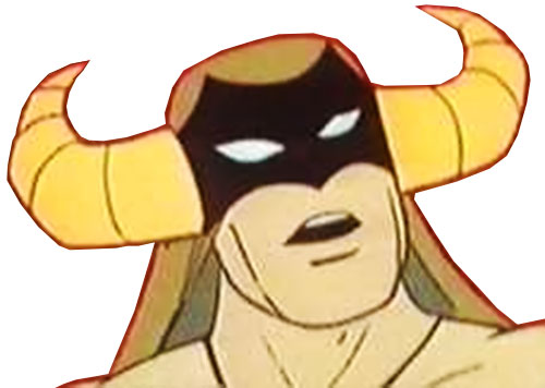 Mighty Mightor (Hanna Barbera cartoon) face closeup
