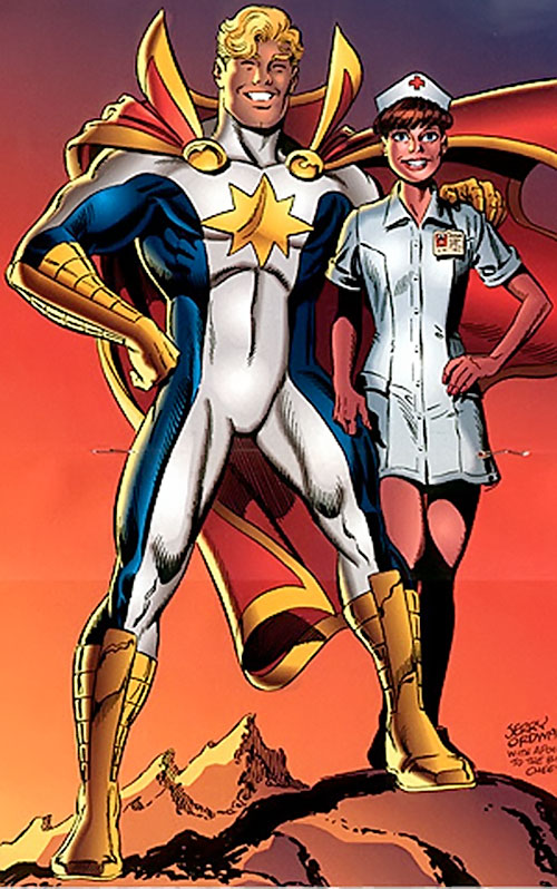 Mighty Man (Savage Dragon comics) and Ann Stevens by Jerry Ordway