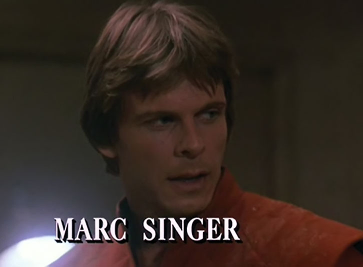 Mike Donovan (Marc Singer) face closeup