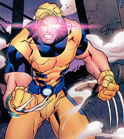 Mimic of the Exiles (Marvel Comics) with Wolverine and Cyclops' powers active