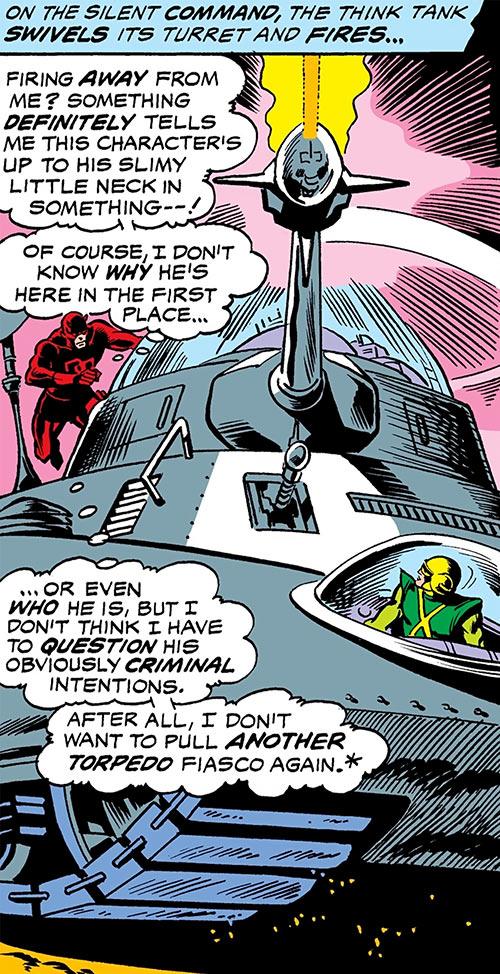 Daredevil (Marvel Comics) boards Mind Wave's Think-Tank