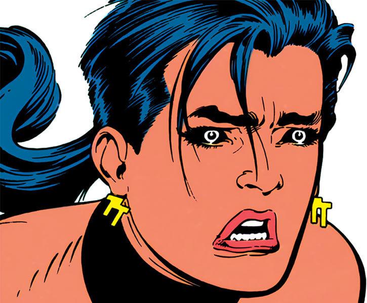 Mirage Delgado of the Team Titans (DC Comics) is shocked