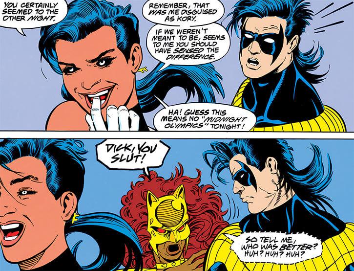 Mirage (Miriam Delgado) and Nightwing