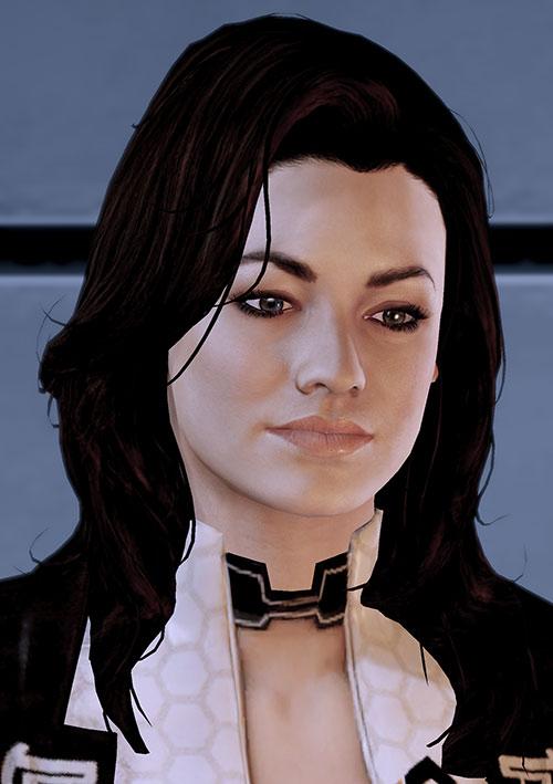 Miranda Lawson (Mass Effect) looking introspective