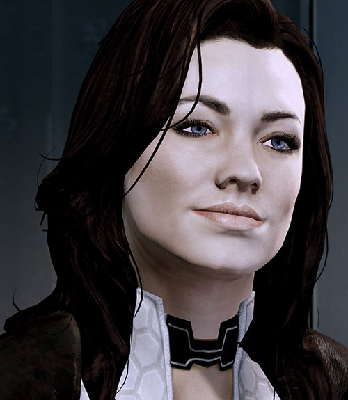 Miranda Lawson (Mass Effect) slight smile