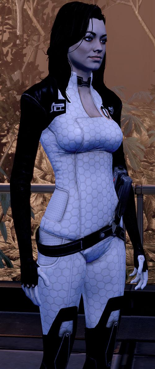 Miranda Lawson (Mass Effect) in orange-ish lighting