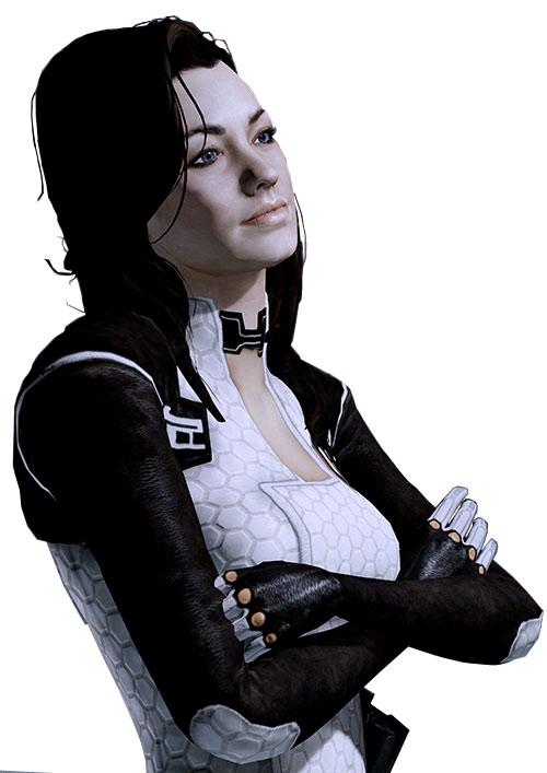 Miranda Lawson (Mass Effect) arms crossed