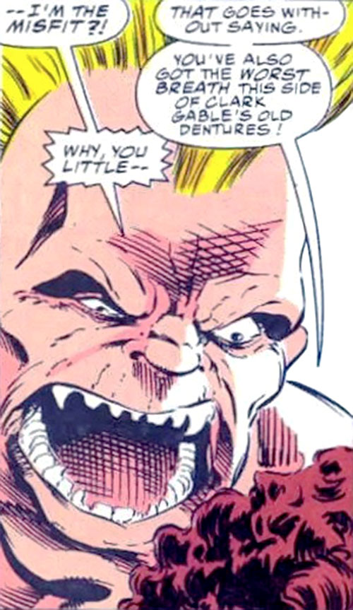 Misfit of the Night Shift (Marvel Comics) face closeup