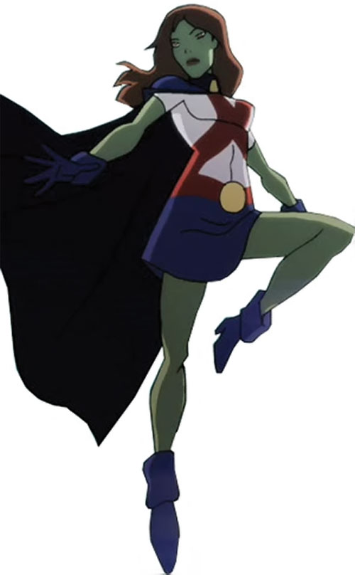 Miss Martian (Young Justice animated series) hovering
