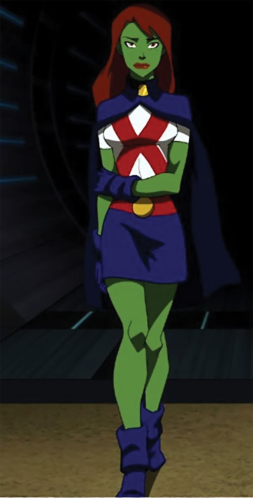 Miss Martian (Young Justice animated series) in darkness