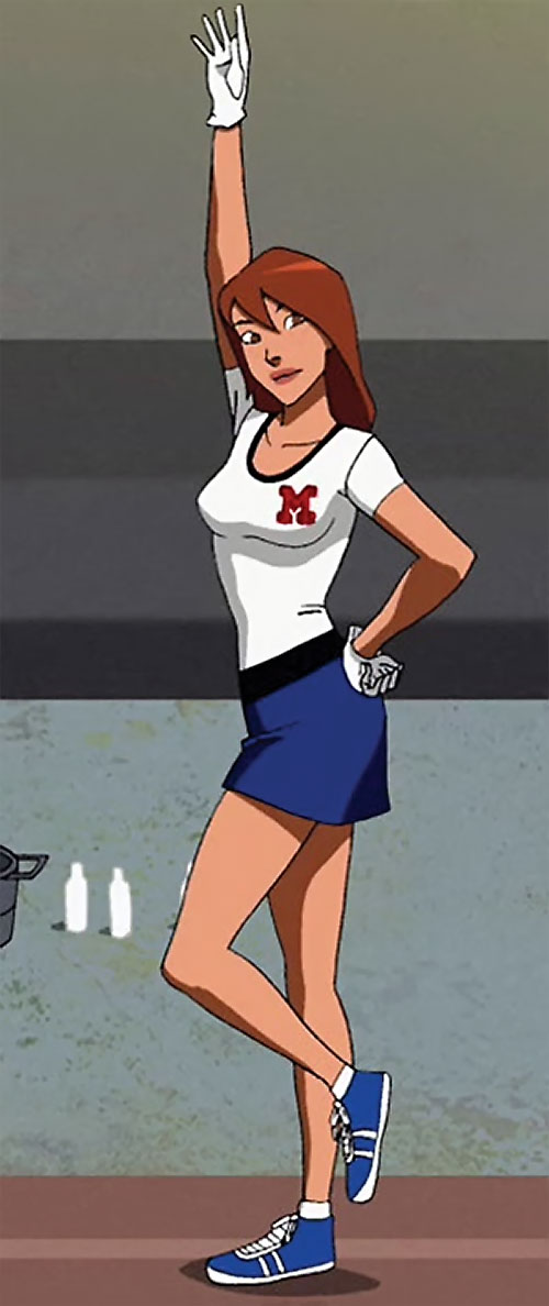 Miss Martian (Young Justice animated series) cheerleader