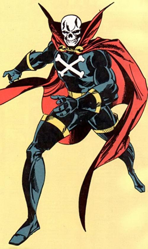 Mister Bones of Helix and Infinity, Inc. (DC Comics) in his Terror costume