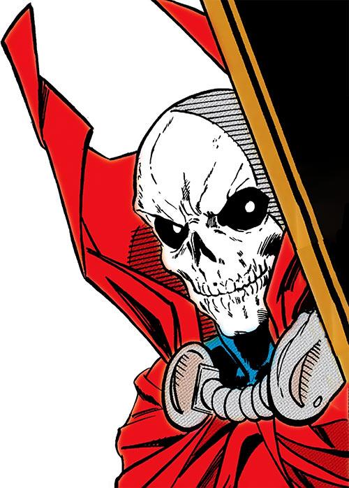 Mister Bones of Helix and Infinity, Inc. (DC Comics) face closeup
